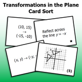 Transformations in the Plane - Card Sort