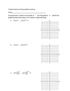 Ex  Determine the Equation of a Transformation of y 2 x   YouTube moreover transformations with key worksheet   W WKST Transformations I Given together with Practice for Square Root Graph   Transformations also  as well Transformations of Functions Practice   MathBitsNotebook Alge2 besides Transformations Quiz Math Math Worksheet Quiz Rotations In Study together with Graph Transformations as well Transformation Of Functions Worksheet   Oaklandeffect as well Function Transformation  solutions  ex les  videos  lessons moreover Alge 2 Unit  Radical Functions Section  Graphing Radical also Practice for Square Root Graph   Transformations besides Graphing Parent Functions Math Math Gallery Transformations moreover Exponential Function Graphing Exponential Function Graphing Practice moreover Worksheet Piecewise Functions Answers Luxury Domain   Range Of likewise Glencoe Alge 2 Word Problem Practice Answers Elegant Quadratic together with Transformations of Exponential Functions Practice by Chloefficient. on transformations of functions practice worksheet