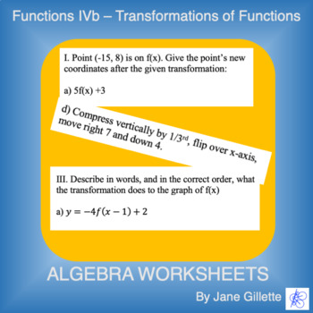 Transformations of Functions A