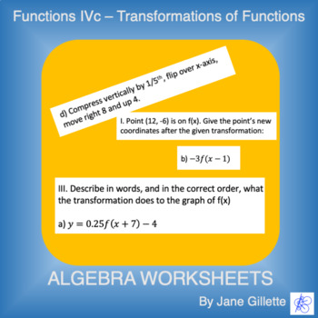 Transformations of Functions B