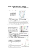 College Algebra: Lecture Notes (SECOND EDITION)—Lecture 10