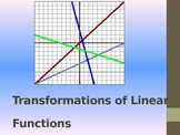 Transformations of Linear Functions PowerPoint