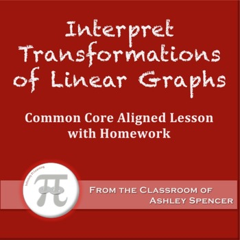 Interpret Transformations of Linear Graphs (Lesson Plan with Homework)