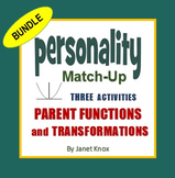 Parent Functions and Transformations, Personality Match-Up Bundle