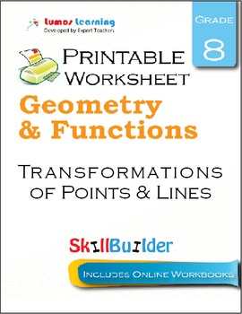 Transformations of Points & Lines Printable Worksheet, Grade 8