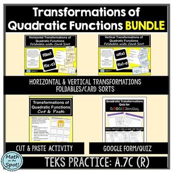 Transformations of Quadratic Functions BUNDLE
