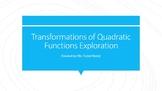 Transformations of Quadratic Functions Exploration