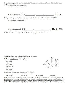 Transformations of Quadratic Functions Part 2 Spring 2013 (Editable)