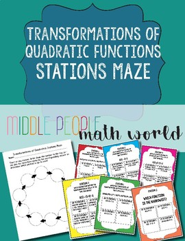Transformations of Quadratic Functions Stations Maze