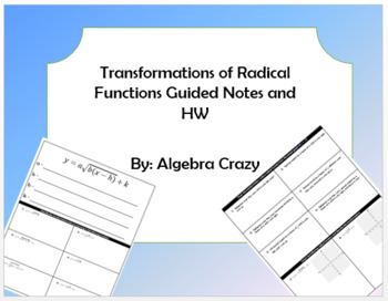 Transformations of Radical Functions Guided Notes and HW