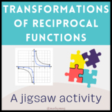 Transformations of Reciprocal Functions Jigsaw Activity