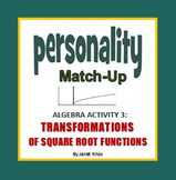 Transformations of Square Root Parent Function, Personality Match-up, Activity 3