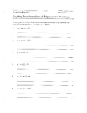 Transformations of Trig Functions Review Packet (Sine, Cosine, degrees only)