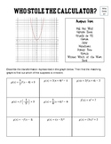 Transformations of Quadratic and Linear functions - Who Done it?