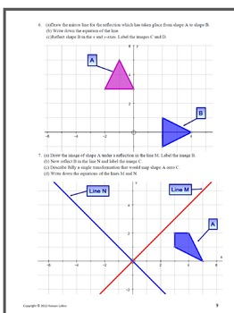 Transformations of shapes Dilation Reflection Translation Rotation +Assessment