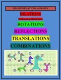 Transformations of shapes Dilation Reflection Translation