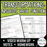 Transformations of Functions Lesson (Absolute Value)