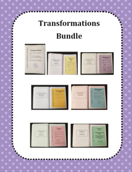 Transformations on a Coordinate Plane Bundle (Foldables)