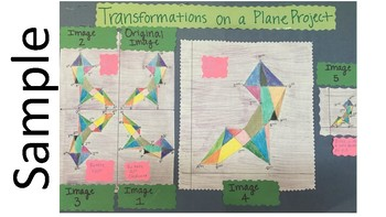 Transformations on a Coordinate Plane Project 8th Grade Math