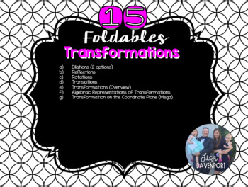 Transformations on the Coordinate Plane (Foldable Bundle)