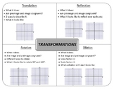 Transformations on the Coordinate Plane - GRAPHIC ORGANIZER