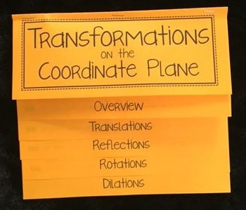 Transformations on the Coordinate Plane (Mega Foldable)