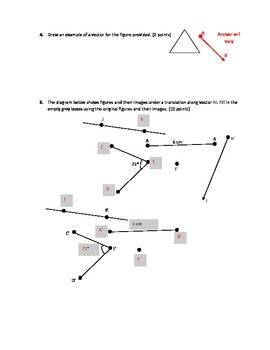 Transformations using Vectors Test