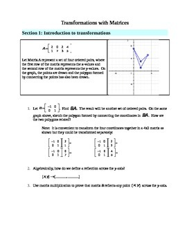 Transformations with Matrices