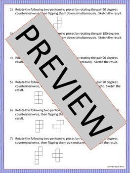 Transformations with Pentominoes Activity