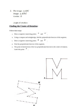 Transformations with Rigid Motion Common Core Geometry
