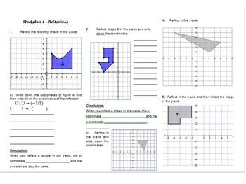 Transformations worksheets