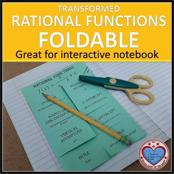 Transformed Rational Functions Foldable