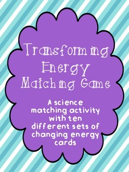 Transforming Energy Matching Game