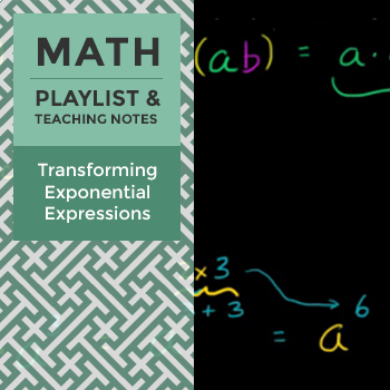 Transforming Exponential Expressions - Playlist and Teaching Notes