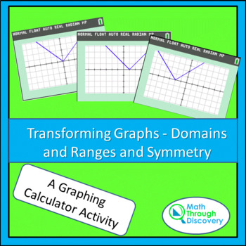 Algebra:  Transforming Graphs - Domains and Ranges and Symmetry