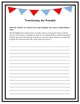 Transforming the Preamble- Translation Activity