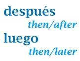 Transiciones / Spanish Transition Words