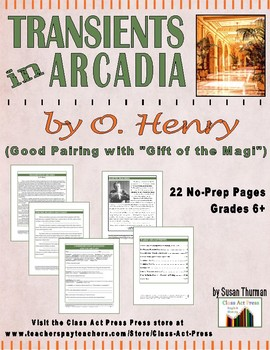 """O. Henry: """"Transients in Arcadia"""" Close Reading Study Guide"""