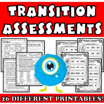 graphic about Printable Transition Assessments identify Changeover Testimonials Mega Offer: IEP Designing for Daily life Abilities and Work