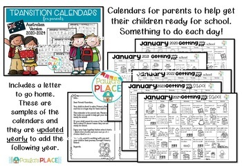 Transition Calendar for Parents