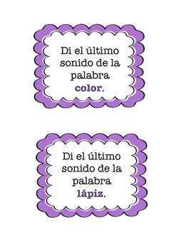 Transition Cards - Spanish