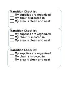 Transition Checklist **Editable**