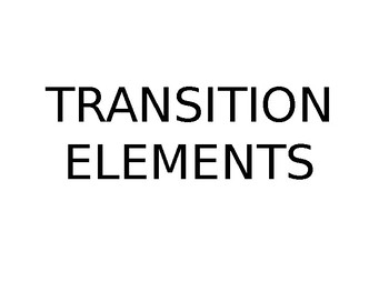 Transition Element Powerpoint