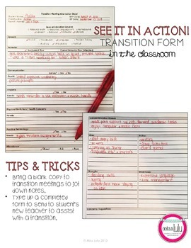 Transition Form for Students on an IEP