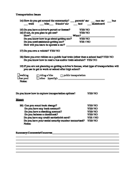 Transition Interview Form