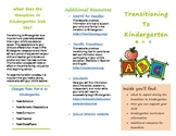 Transition Into Kindergarten Brochure (Editable)
