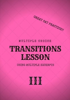 Transition Lesson 3 Using Multiple Excerpts