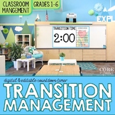 Classroom Transitions Management Tool & Editable Digital A