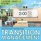 Classroom Transitions Management Tool & Editable Digital Anchor Chart Templates