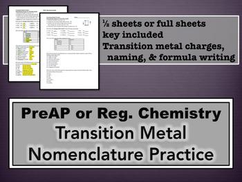 Transition Metal Practice
